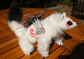 ---SOLD--- posable-Okami Ameterasu Art DOLL by stephanie1600