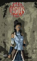 Korra Fights for Republic City by tsbranch