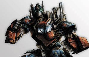 Optimus Prime Coloured by NineteenPSG