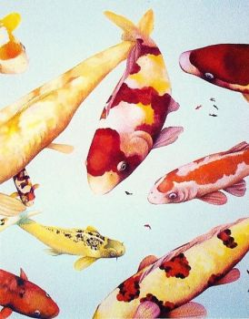 Koi Mural in detail by Timeless-Faces