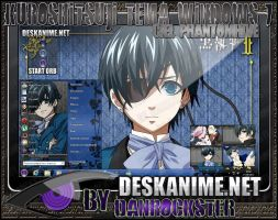 Ciel Phantomhive Theme Windows 7 by Danrockster