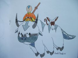 Avatar Time with Aang and Appa by IRPieday