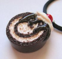 Ice Cream Cake Roll Necklace by MigotoChou
