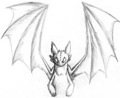 Unfinished Toothless by Bunkinator