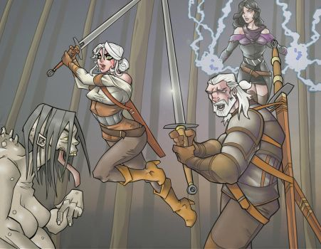 Witcher 3 Full-Color Piece by davidstonecipher