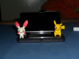 Plusle and Pikachu use 3DS 7 by efilvega