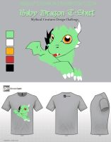 Baby Dragon T-Shirt by Foxymon