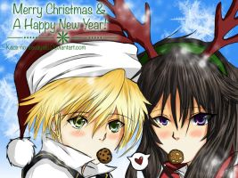 Xmas/New year Oz and Alice by kaze-no-sasayaki