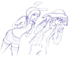 Fionna and Marshall Lee Sketch by MsSubarashii