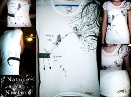 Nature vs Nurture shirt by RoyalFlowerGarden