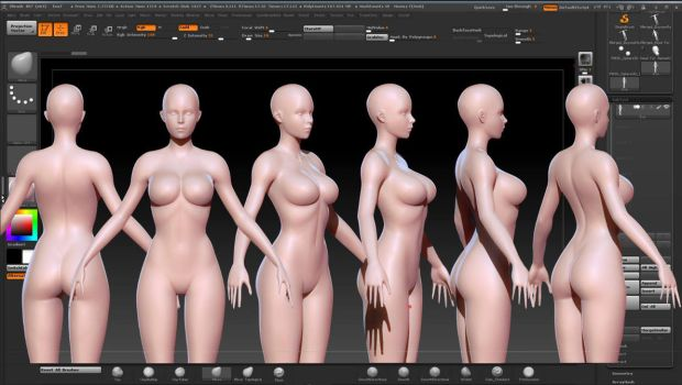 ZBrush Female by digifish21