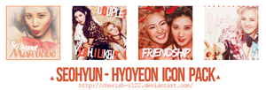 [ICON PACK] Seohyun and Hyoyeon by cherish-rl22