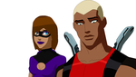 Booming and Aqualad by VaderNihilus