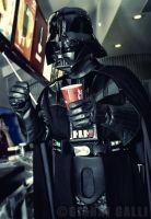 STAR WARS Cosplay - Darth Vader At Fast Food by Metalinquisitor