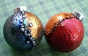 Metallic Christmas Ornaments by MandarinMoon