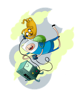 Adventure time, playing games by gaspineitor