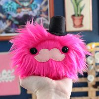 Tophat Mustache Monster by loveandasandwich
