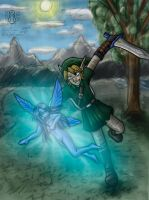 Link got tired of Navi by Lord-Evell