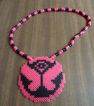 TomorrowLand Black and Pink necklace by PabloPastulio