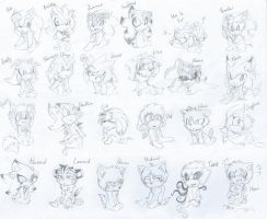 .: -almost- ALL MY SONIC OCS AS BABIES :. by SilverfanNumberONE