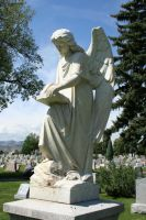 Mount Olivet Cemetery Archangel Uriel 74 by Falln-Stock