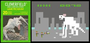 Cloverfield Atari faux game by Hartter