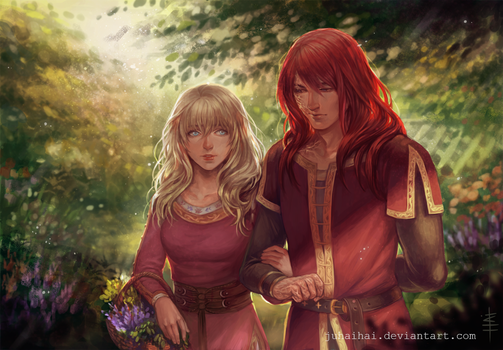 Commission: Arya and Kirian by juhaihai