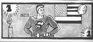 Superman Dollar by TroyandFriends