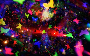 Coldplay Butterfly Collage by ediskrad-studios