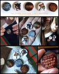 The Zombie Hunters Buttons by Ashwings
