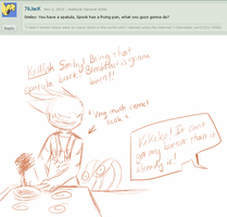 Ask the 'Devivs: Spatulas and Frying Pans by SmilehKitteh