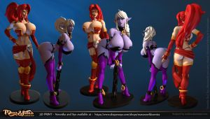 Syx and Red figurines by Texelion