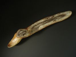 SCAR wooden spoon ~ mountain rhododendron by Sp00ntaneous