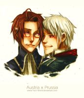 Fanart Sunday: Hetalia: Austria x Prussia by Yaoi-World