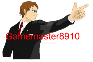 Ace Attorney: Matthew Talking GIF Test 2 Objection by gamemaster8910