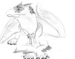 Griffin Lounging  (unfinished) by birdboy5
