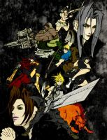 Final Fantasy VII Group by Crystilia