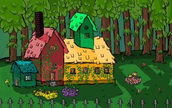 House in the forest by RenovatedNerd