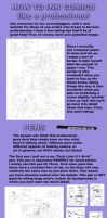Inking Comics Tutorial by Loverofpiggies