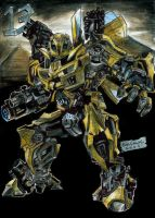 Bumblebee Watercolored by AlanStain