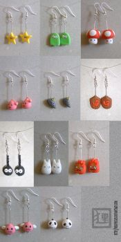 Biscuit-Earings by vrlovecats