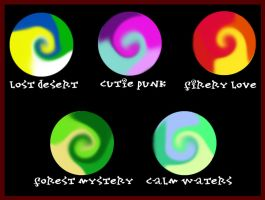 Color Swirl Palette adopts Set 1 :CLOSE: by PurrsChibiDream