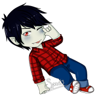 Marshall Lee Chibi by SparksReactor