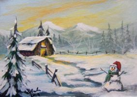 ACEO Country Christmas #3 by annieoakley64