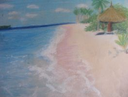 Beach In Chalk Pastels by TheElegantFaerie