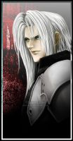 Sephiroth - The Evil Grin - by Washu-M
