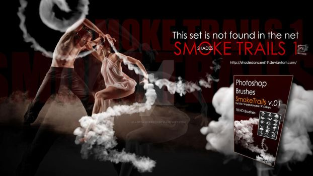 Shades Photoshop Brushes Smoke Trails by shadedancer619