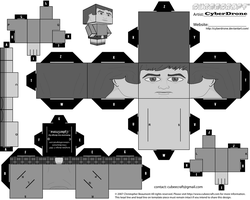 Cubee - Jamie McCrimmon 'B-W' by CyberDrone