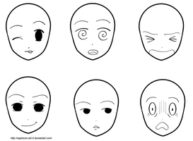 Face Expressions Reference Sheet by Sapheron-Art
