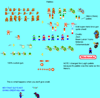 SMB 8-bit gun sheet by Oskarmandude